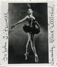Maria Tallchief, American Ballerina, signed autographed 4x5 photo