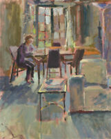 Pamela Chard (1926-2003) - 20th Century Oil, At the Table