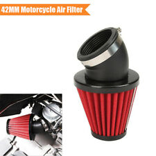 1PC Red 42mm 45° Bend Air Filter with Adjustable Clamp for Dirt Bike Motorcycle
