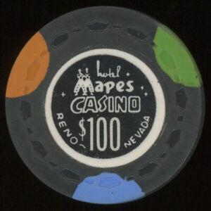 $100 MAPES CASINO CHIP RENO NEVADA POKER CHIP GAMBLING TOKEN