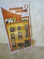 New Listing Dollhouse Plastic 1/4' Scale Dining Room Set Furniture New