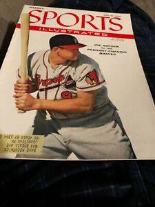 Sports Illustrated 7-30-56 Joe Adcock - Milwaukee Braves Cover, Excellent Cond*
