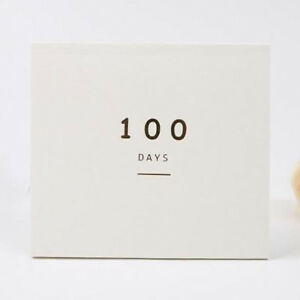 100 Days Daily Calendar Countdown Planner Book School Students Stationery QK
