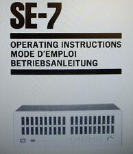 SANSUI se-7 ST Graphic Equalizer Bedienungsanleitung gedruckt eng Franken Regionalligen