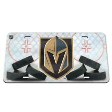 Vegas Golden Knights License Plate Mirrored Acrylic