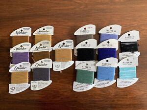 Assortment Of Needlepoint Thread RG Splendor Strandable 12-ply Silk And Matte 18