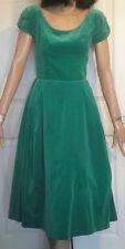 New listing Vintage Green Velvet Full Skirt Party Dress B34