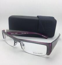 Rare ALAIN MIKLI Eyeglasses AL 0629 26 56-19 Grey & Purple Semi-Rimless Frame