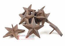 Lot 12 Cast Iron 2.5 inch Texas Star Nails Tacks Rustic Finish Western 1 in Nail