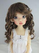 Monique SUMMER Wig 2 Tone Brown color Size 8-9 BJD shown on Mei Mei Kaye Wiggs