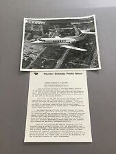 RAF HAWKER SIDDELEY HS125-600 LARGE OFFICIAL PHOTO ROYAL AIR FORCE 1973