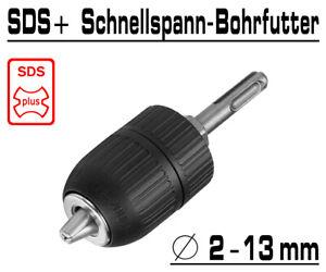 SDS-Plus Schnellspann Bohrfutter Bohrhammer Bohrmaschinen Adapter Ø 2-13mm 0510