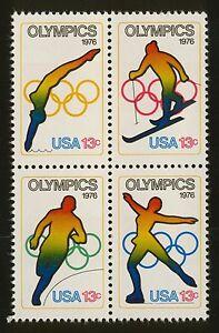#1698a 13c 1976 Olympics, Se-Tenant Block, Mint ANY 4=