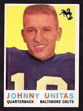 1959 TOPPS #1 JOHNNY UNITAS COLTS