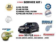 Para BMW X5 F15 25D 30D 40D 2013 -- > NUEVO ACEITE Aire Combustible Kit De Servicio De Filtro De Polen 5