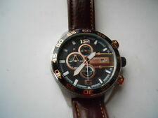 Fossil chronograph mens brown leather band.quartz,Analog & battery watch.Ch-2559