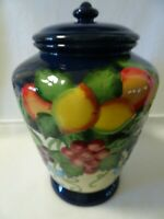 """Vintage Ceramic Hand Painted for Nonnis Biscotti Cookie Jar- Sealed Lid-11 1/2"""""""