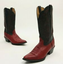 Ariat Heritage Western Leather Cowboy Boots Style 15791 Black And Red Size 7 B