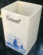 delft blue CONDENSED MILK CEREAL JAR CANISTER CONTAINER