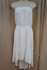 Swim Cover Coco Bianco Sz L White Sheer Strapless Beach Wear Cover Up