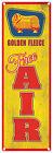 GOLDEN FLEECE DUO  'FREE AIR'   Rustic Tin Sign 60 x 20 cm'