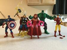 Avengers Marvel Legends Tru hulk Captain America Thor Scarlet Witch Iron Man lot