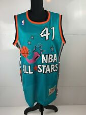 Vintage Mitchell & Ness Glen Rice #41 Nba All Stars Basketball Jersey Size 48