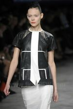 RICK OWENS $1973 leather short sleeve Spolverino SS12 Naska runway jacket 48 NEW