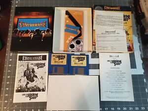 Commodore Amiga Game CINEMAWARE: LORDS OF THE RISING SUN  w/ Disks + Manual!