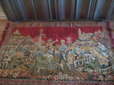 """Vintage """"Royal Dancers"""" Large Tapestry 75"""" X 46"""" - Made in Italy"""