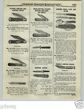 1919 PAPER AD OVB Our Very Best Hunting Knife Press Button Dagger Style