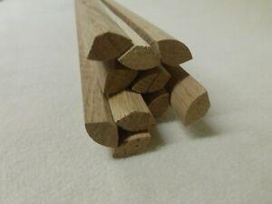 (a0.32)  10Stk 100cm Viertelstab Eiche 18x18mm Holzleisten