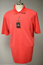 BUGATCHI Ottoman Short Sleeve Polo Shirt 3 Button Placket Large