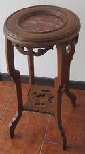 Colonna in legno - tavolino - porta telefono - portafiori  - salotto / marmo