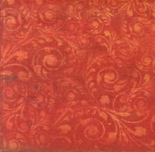 Rice paper Decoupage Scrapbooking Sheet Red Texture