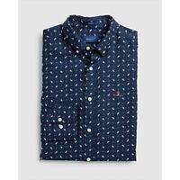 Gant Shirt - Gant Men's Oxford Paisley Print Shirt Evening Blue