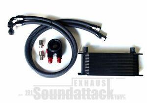 Ölkühler Kit Universal VW Audi Honda 16 Reihen schwarz Thermostat Dash10 AN10