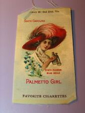 Antique Favorite Cigarettes Tobacco Silk Palmetto Girl