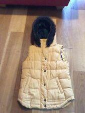 Next Gilet Body warmer With Hood Size 10 Mustard Ochre