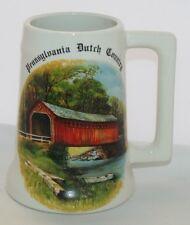Vintage Pennsylvania Dutch Country Mug Walter J Seibold 19090 Covered Bridge EUC