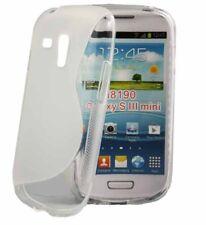 Rubber Case Wave für Samsung i8190 Galaxy S3 Mini in transparent Handy Hülle