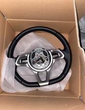 Driver Steering Wheel Black Leather Silver Trim OEM McLaren MP4-12C