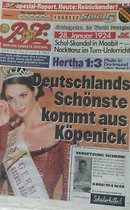 BZ - BERLINS GRÖSSTE ZEITUNG vom 28. Januar 2002 / 125 Jahre