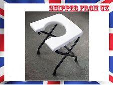 folding commode portable travel potty stool toilet seat non slip disability aid