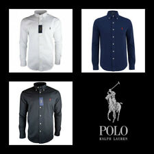 Men's Ralph Lauren Polo Shirt Long Sleeve Slim Fit S M L XL Shirt