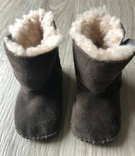 UGG Boots Brown Infant Size 4/5 White Fur Lined EUC