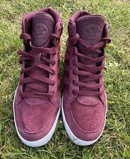 Adidas Originals para hombre Hardcourt hi caña marrón Borgoña Tenis De Entrenamiento Talla 8.5