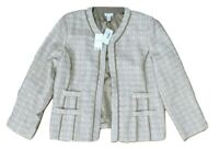 Chico's Size 3 Daphne Jacket Tweed Travelers Collection Beige - New