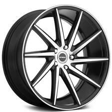 4 24 Strada Wheels Sega Black Machined Rimsb42 Fits Nissan Armada