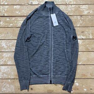 C.P. Malfile Fast Dyed Cardigan 50 BNWT Lens Grey Jacket Zip Through Sweatshirt